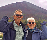 Tom and Mary Jo Compton visit Japan's Mt. Fuji, 2016